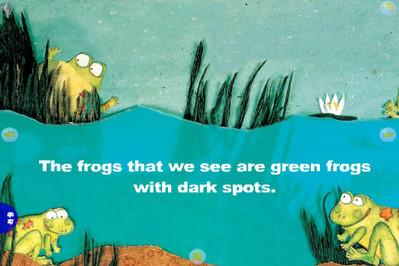 温暖的春天来了,青蛙从冬眠中苏醒